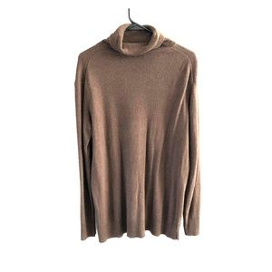 Silk and cashmere turtleneck sweater